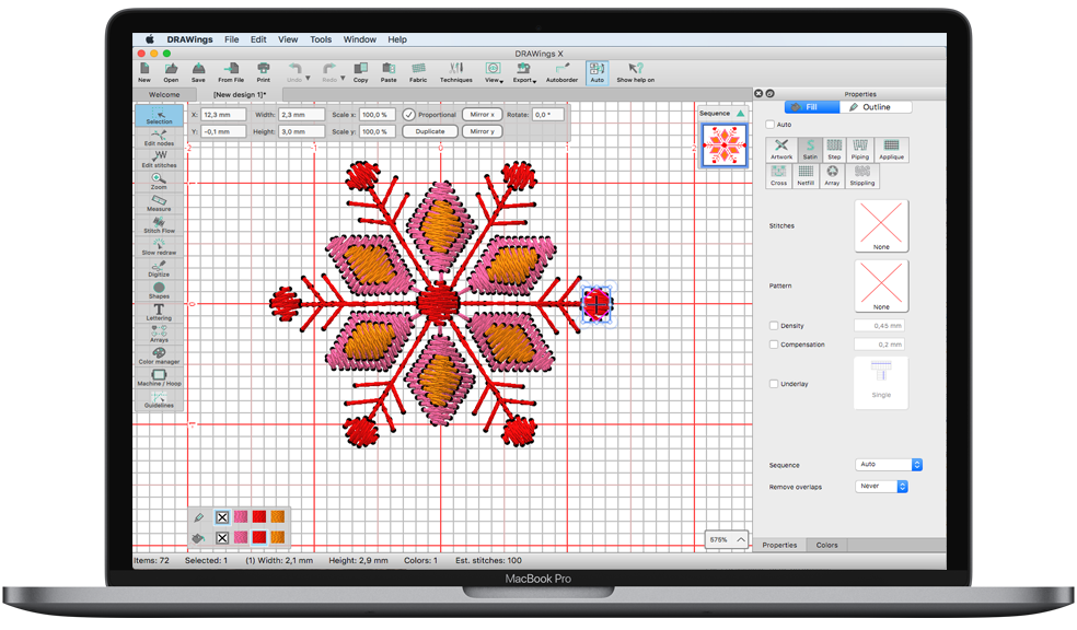 DRAWings PRO X embroidery software has been released!