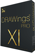 DRAWings PRO X Embroidery software box