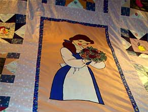 Quilt embroidery design girl