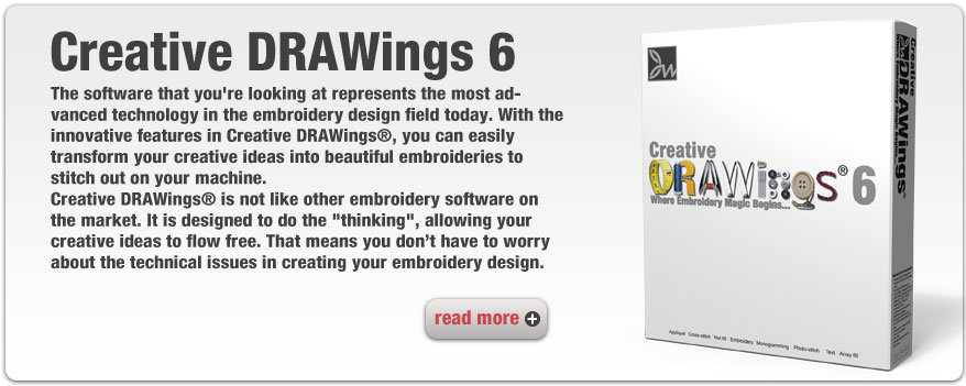 Creative DRAWings 6 embroidery software