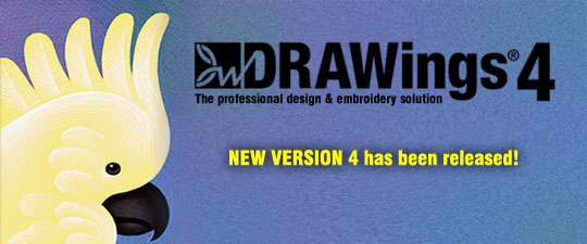 DRAWings 4 embroidery software has been released!