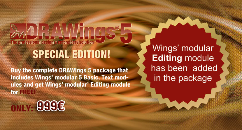 DRAWings 5 embroidery software has been released!