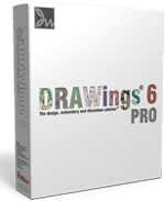 DRAWings 6 PRO Embroidery software box