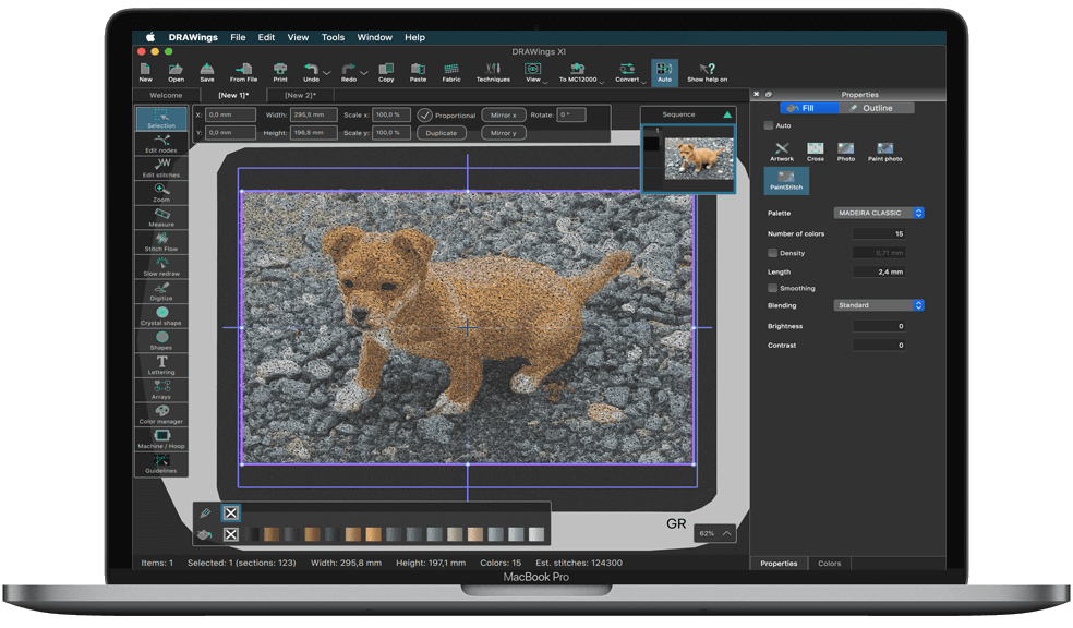 DRAWings PRO XI embroidery software has been released!
