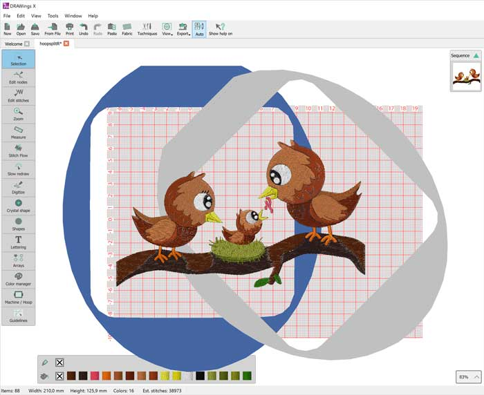 DRAWings embroidery software - DRAWings PRO X embroidery
